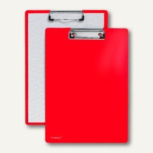 FolderSys Klemmbrett DIN A4 aus PP, rot, 30 Stück, 80001-80