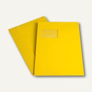 Versandtasche DIN C4, Fenster, haftkl., 120 g/m², goldgelb, 250 Stück