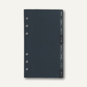 Dohse idé Timing 2 Adressen-Register, 9.5 x 17 cm, 12-teilig, schwarz, 7066812
