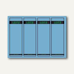 LEITZ Rückenschilder, PC-Beschriftung, breit/kurz, blau, 100 Stück, 1685-20-35