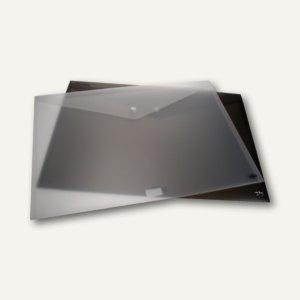FolderSys Zeichnungsmappe DIN A3, PP, Druckknopf, schwarz, 12 Stück, 1025-01