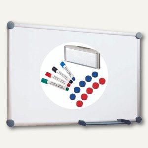 Hebel Whiteboard 2000, 90x120 cm, Komplettset, mit viel Zubehör, grau, 6309584