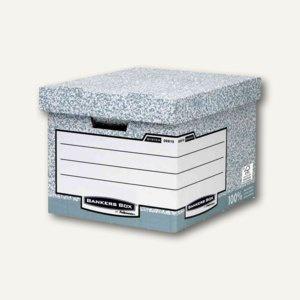 Bankers Box Archiv- und Transportbox, 333 x 390 x 285 mm (BxTxH), grau, 10 Stück