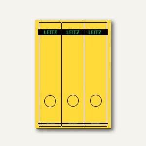 LEITZ Rückenschilder, PC-Beschriftung, breit/lang, gelb, 75 Stück, 1687-00-15