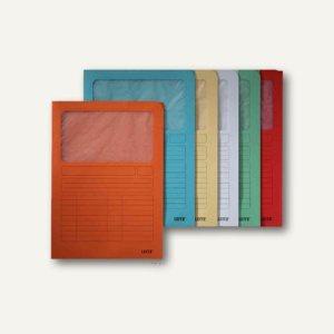 LEITZ Sichtmappe DIN A4, Karton mit Sichtfenster, sortiert, 100 Stück, 3950-00-99