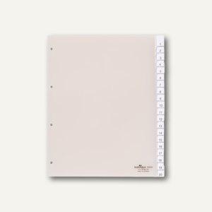 Kunststoff-Register DIN A4+, blanko, Schilder bedruckbar, 20-tlg., 2 Sätze