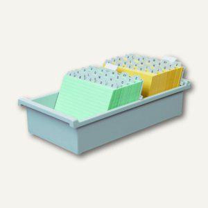 HAN Karteitrog DIN A6 quer, für 1.300 Karten, Kunststoff, grau, 956-0-11