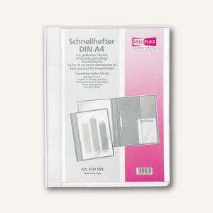 Veloflex Schnellhefter VELOFORM®, A4, PVC, glasklar/weiß, 10 Stück, 4741090