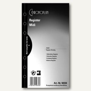 Chronoplan Zeitplaner Register, DIN A6, 18-teilig, 50334