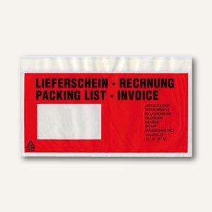 Lieferscheintaschen, DIN lang, 240 x 125 mm, Lieferschein/Rechnung, 250 St.