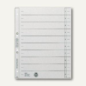 LEITZ Trennblätter DIN A4, geöst, grau, 100 Blatt, 16540085 - Vorschau