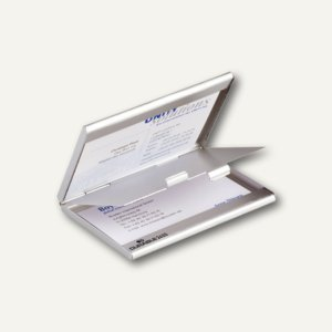 Durable Visitenkarten-Spender Business Card Box duo, metallic-silber, 5 St, 2433-23