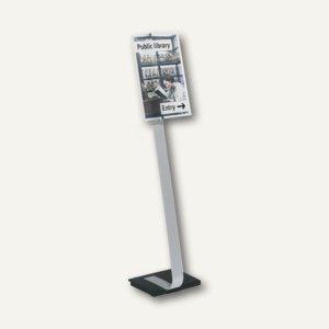 Boden-Informationsständer CRYSTAL SIGN, Tafel DIN A3, metallic-silber, 4819-23