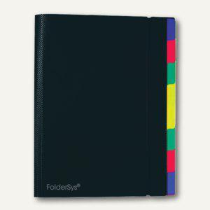 FolderSys Ordnungsmappe mit 8 Trennblättern, A4, PP, schwarz, 10 Stück, 7003130 - Vorschau