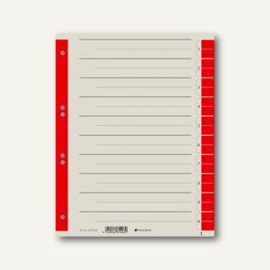 officio Trennblätter DIN A4, 10 Taben, 230 g/m², rot, 100 Stück