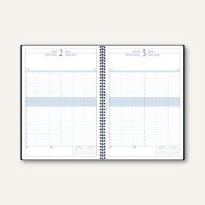 """Quo Vadis """" Time 29"""" Buchkalender - DIN A4, 1 Tag/1 Seite, blau/grau, 29652B"""
