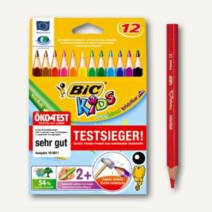BIC Kids Dreikantbuntstifte Evolution Triangle, sortiert, 12 Stück, 8297356