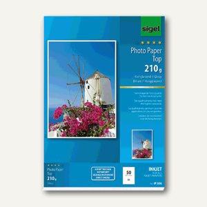 "Sigel Fotopapier "" Top"", DIN A3, 210 g/m², glossy, 50 Blatt, IP356"