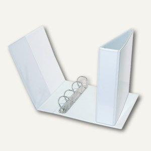 Präsentationsringbuch DIN A5, 4-Ring 35 mm, Rücken 55 mm, Einstecktaschen, weiß,