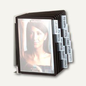 Wand-Sichttafelsystem VARIO WALL10, DIN A5, mit 10 Tafeln, schwarz, 5507-01