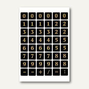 Herma Zahlen, 13mm, 0-9, Folie schwarz, gold geprägt, 10x2 Bl., 4131 - Vorschau