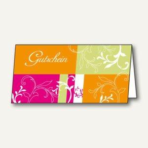 """Sigel Gutschein-Karten """" Samba"""", DIN lang (2/3 A4), 220 g/m², 25 Stück, DC154"""