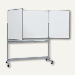 Mobile Klapptafel, 2 ausklappbare Flügel, Schreibfläche 6 m² (2 x 100 x 300 cm)