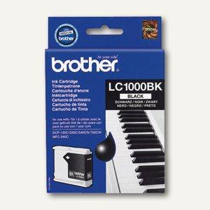 Brother Tintenpatrone schwarz, ca. 500 Seiten, LC1000BK