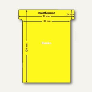 Ultradex T-Karten, blanko, Breitformat, hellgelb, 100 Stück, 541250