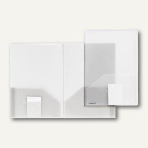 Broschüren-Mappe A4, PP, Abheftlaschen, Taschen/Innen, 2 x 50 Bl., transp., 20 S