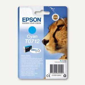 Epson Tintenpatrone T0712, cyan, C13T07124012