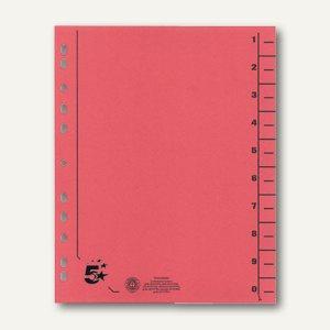officio Trennblätter für DIN A4, 24 x 30 cm, Karton 230 g/m², rot, 100 St.