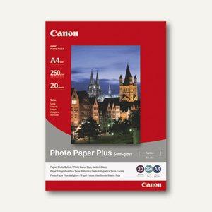 """Canon Fotopapier """" Plus SG-201"""", DIN A4, 260 g/m², 20 Blatt, 1686B021"""
