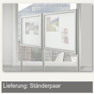 BST Ständer für Außenbereich, Eckprofil 60x60mm, silber, 2 St./Set, INTRO-DFZ60