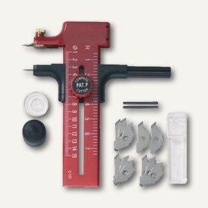 Ecobra Kreis-Cutter für Durchmesser 10 - 150 mm, rot