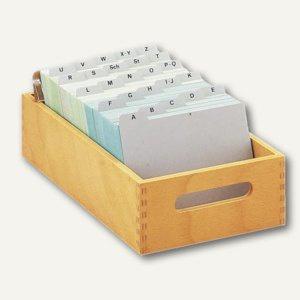HAN Karteitrog DIN A5, Holz natur, für 1.000 - 1.500 Karten, 1005-0