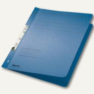 LEITZ Schlitzhefter, DIN A4, Manilakarton, blau, 50 Stück, 3746-00-35