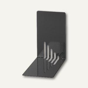 MAUL Buchstützen Metall, schmal, 14 x 8, 5 x 14 cm, schwarz, 3 Paar, 3501090
