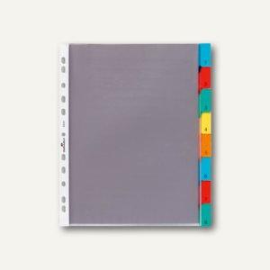 Durable Hüllenregister, 8 tlg., Universal-Lochung, transparent, 4 Stück, 6631-19