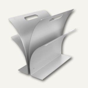 officio Zeitungsständer aus eloxiertem Aluminium, 33 x 30, 5 c 27 cm