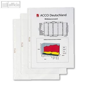Hetzel Prospekthüllen Standard, DIN A4, 60µ, PP, glasklar, 50 Stück, 22465490