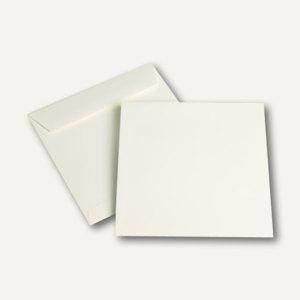 """Briefumschlag """" naturelle"""", haftklebend, 170 x 170 mm, cremeweiß, 500 Stück"""