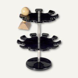 MAUL 18er-Stempelträger, rund, Ø 14 cm, 2 Etagen, schwarz, 5101890