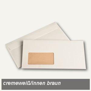 """Briefhülle """" naturelle"""" DL, haftklebend, 90 g/m², Fenster, cremeweiß, 500 Stück"""