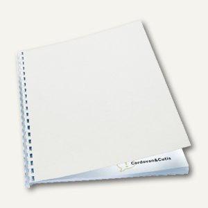 GBC Einbanddeckel LeatherGrain, A4, Karton 250g/qm, weiß, 100 St., CE040070