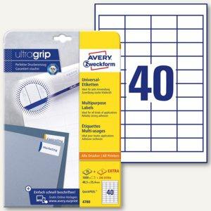 Universal-Etiketten, 48.5 x 25.4 mm, Rand, weiß, 1.200 Stück, 4780