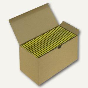 Versandkarton Blitzbox CD25 für 25 CDs in Jewelbox, braun, 20 Stück, 5200250