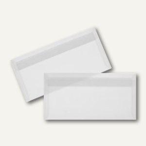 Briefumschlag DIN lang, haftklebend 90g/m² transparent-weiß, 100 St.