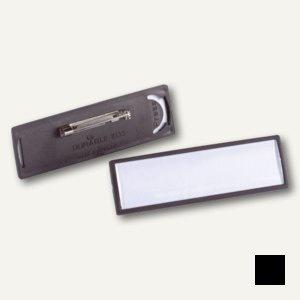 Namensschild Clip-Card mit Plattennadel, 67 x 17 mm, schwarz, 25 St., 8133-01