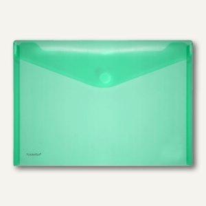 FolderSys Dokumententaschen DIN A4 quer, grün, Klettverschluß, 100 St., 40101-54